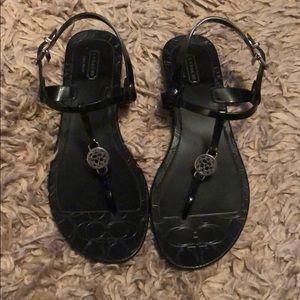 Coach black sandals